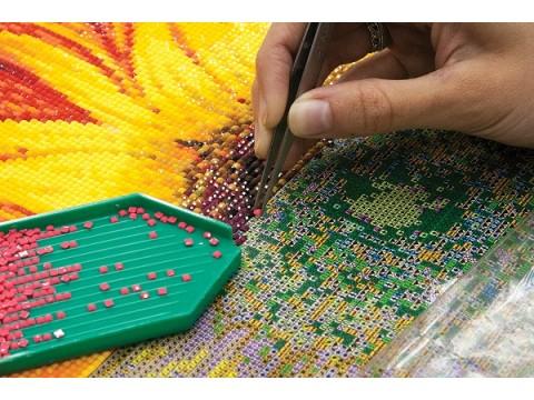 Что такое алмазная вышивка и как правильно выкладывать алмазную мозаику?