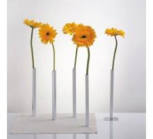 Набор магнитных ваз Magnetic Vase Peleg Design Серебристый
