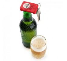 Брелок - открывалка для бутылки Opening Act Rocket Design Красный