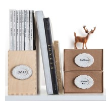Набор бирок-наклеек La Bella Adhesive Monkey Business Белый