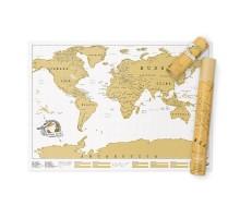 Скретч карта мира Scratch Map Luckies