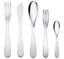 Набор столовых приборов Eat.it (5) Alessi Полированная сталь
