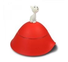 Миска для кошек с крышкой Mio Alessi Красная