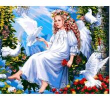 Картина по номерам Ангел и голуби