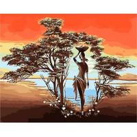 Картина по номерам Озеро в Африке