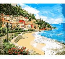 Картина по номерам Город у моря