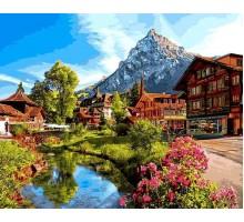 Картина по номерам Альпийский городок