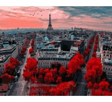 Картина по номерам Алые краски Парижа