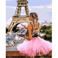 Картина по номерам С розой в Париже