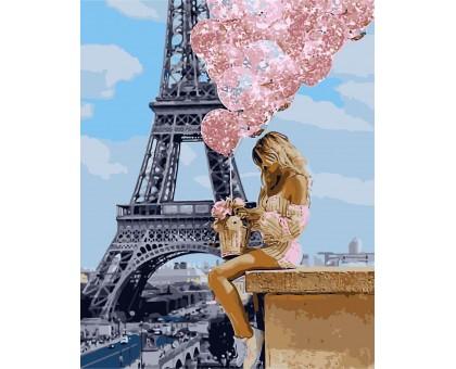 Картина по номерам Над Парижем