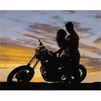 Картина по номерам Закат для влюблённых
