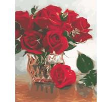 Картина по номерам Алые цветы