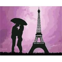 Картина по номерам Свидание у Эйфелевой башни