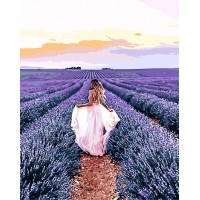 Картина по номерам В лавандовом поле