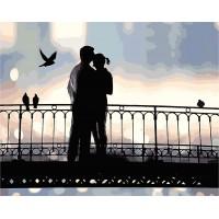 Картина по номерам Любовь на мосту