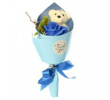 Аксессуары для праздника MK 3323 цветы,букет MK 3323(Blue)