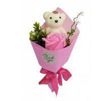 Аксессуары для праздника MK 3323 цветы,букет MK 3323(Pink)