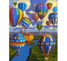 Картина по номерам Полет воздушных шаров