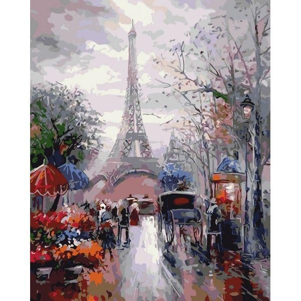 Картина по номерам Французская улочка