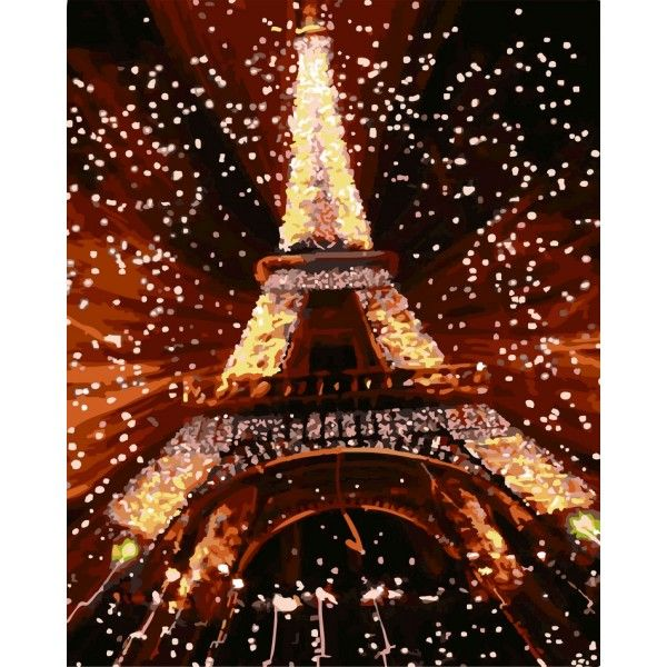 Картина по номерам Ночь в Париже