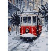 Картина по номерам Заснеженный трамвай