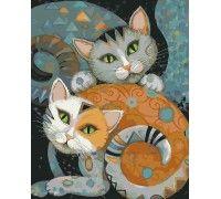 Картина по номерам Хитрые коты