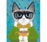 Картина по номерам За чашкой чая