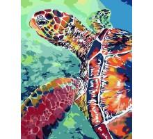 Картина по номерам Радужная черепаха