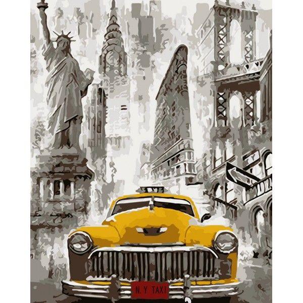 Картина по номерам Нью-Йорк такси