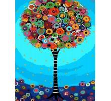 Картина по номерам Дерево фантазии