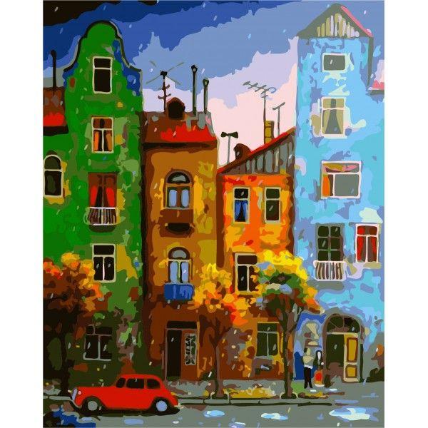 Картина по номерам Цветная улица