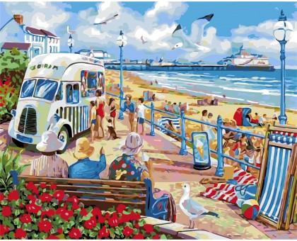 Раскраска по номерам Курортный городок