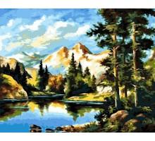 Картина по номерам Горный пейзаж