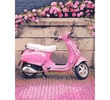 Картина по номерам Розовый скутер