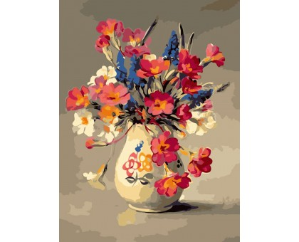 Картина по номерам Цветы из палисадника