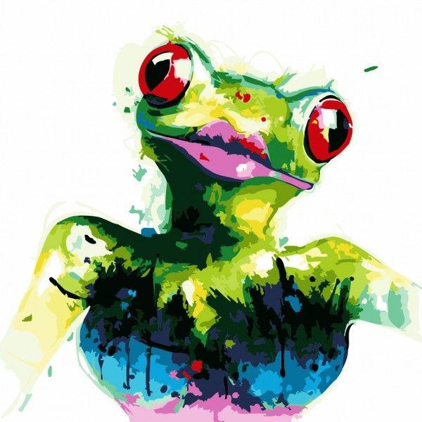 Картина по номерам Лягушка (БЕЗ КОРОБКИ)