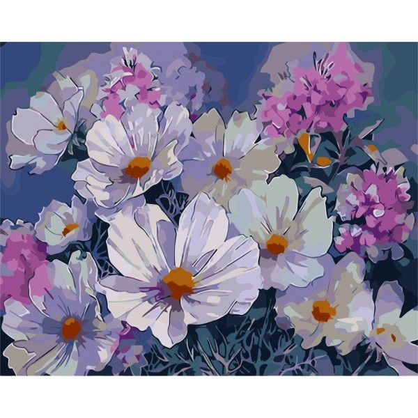 Картина по номерам Летние цветы
