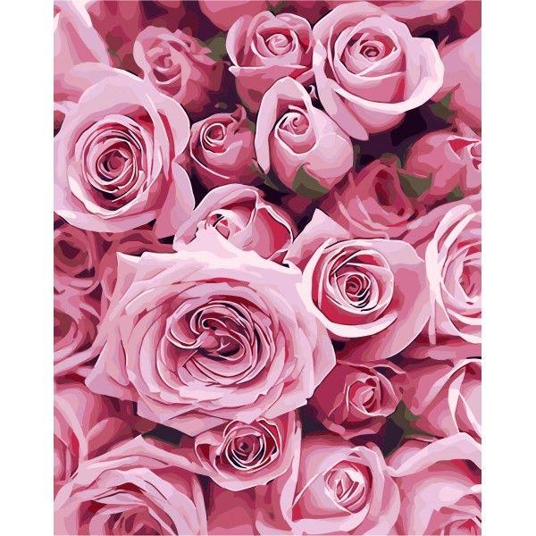 Картина по номерам Нежные розы