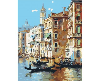 Картина по номерам Город влюблённых