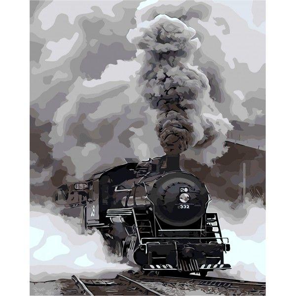 Картина по номерам Прибытие поезда