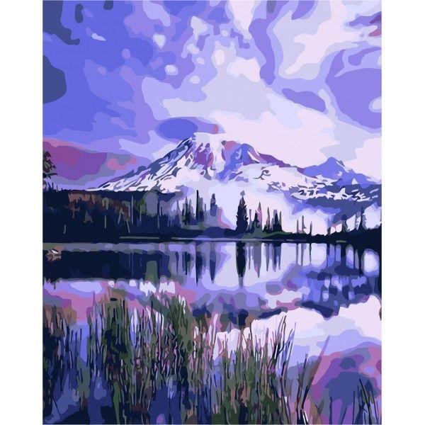 Картина по номерам Лиловое озеро