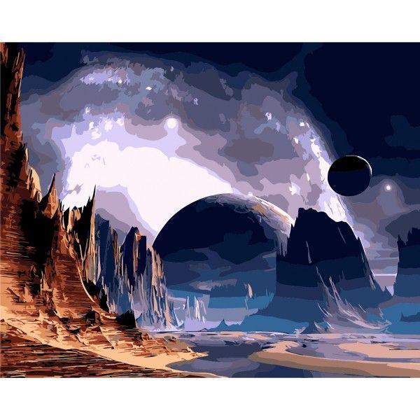 Картина по номерам Далекая планета
