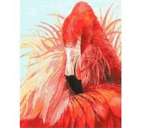 Картина по номерам Яркий фламинго