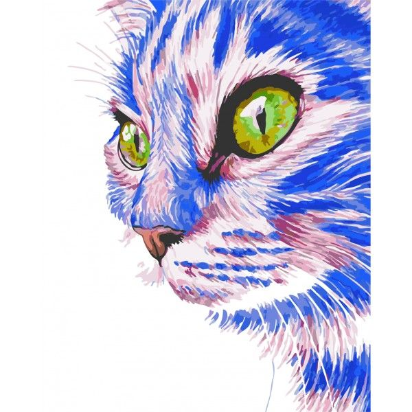Картина по номерам Зеленоглазый кот