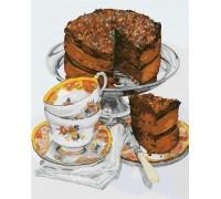 Картина по номерам Шоколадный тортик