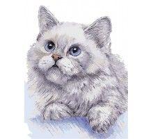 Картина по номерам Белый кот