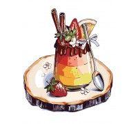 Картина по номерам Клубнично-шоколадный десерт