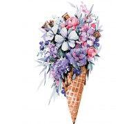 Картина по номерам Цветочное мороженое