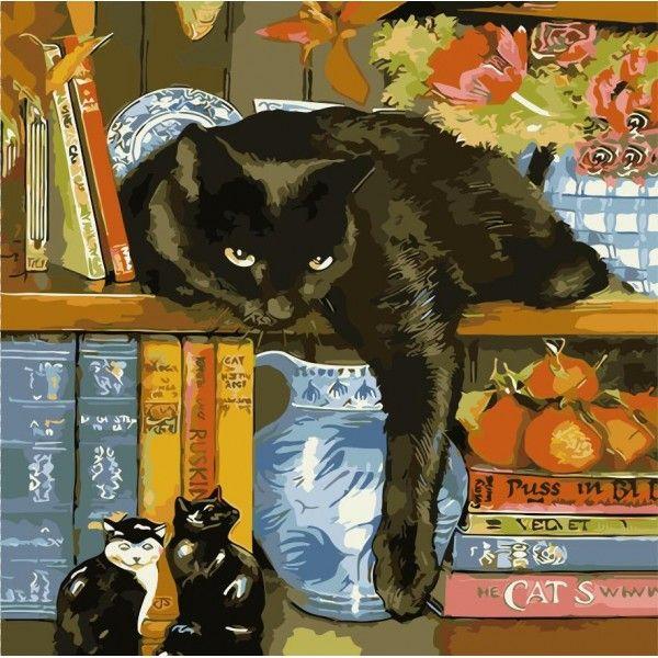 Картина по номерам Ленивый кот
