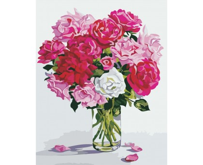 Картина по номерам Оттенки розового